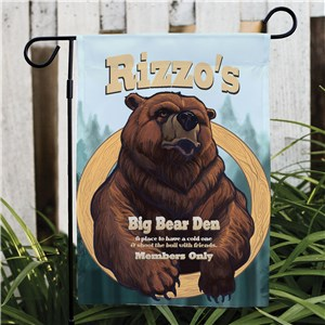 Personalized Big Bear Den Garden Flag | Personalized Garden Flags
