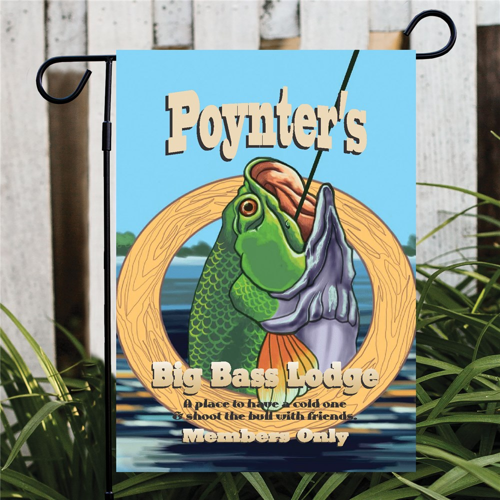 Personalized Big Bass Lodge Garden Flag 83040402