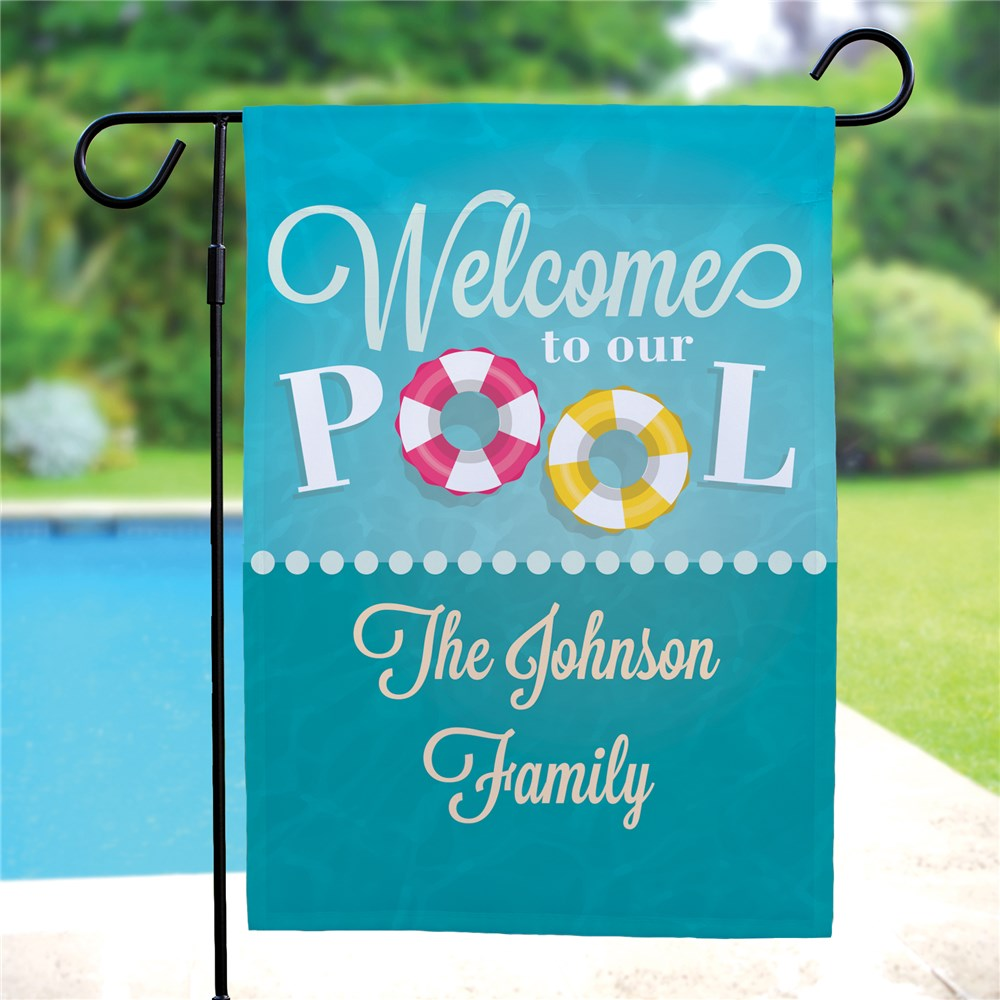 Custom Garden Flags | Personalized Pool Flag