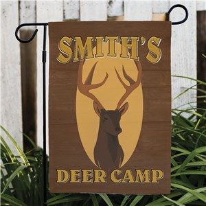 Deer Camp Personalized Garden Flag | Personalized Garden Flags