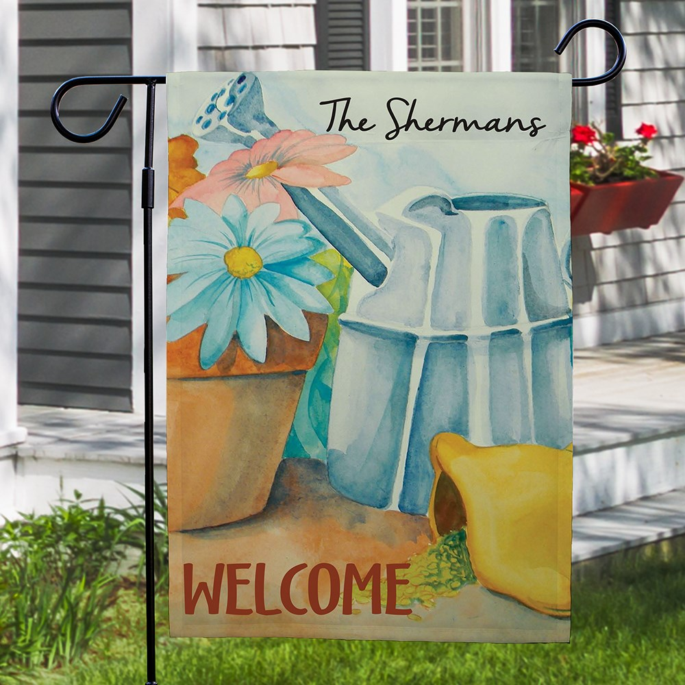 Personalized Spring Garden Flag | Personalized Garden Flags
