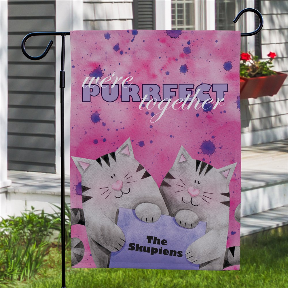 Personalized Purrfect Together Garden Flag 83052412