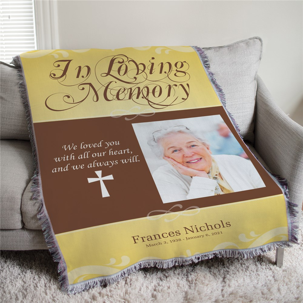 50x60 In Loving Memory Photo Afghan Blanket