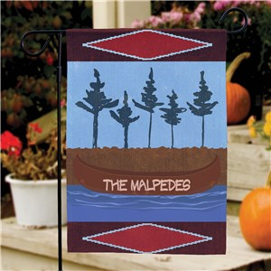 Personalized Canoe Welcome Garden Flag | Personalized Garden Flags