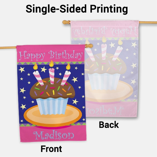 Personalized Birthday Cake House Flag | Personalized House Flags