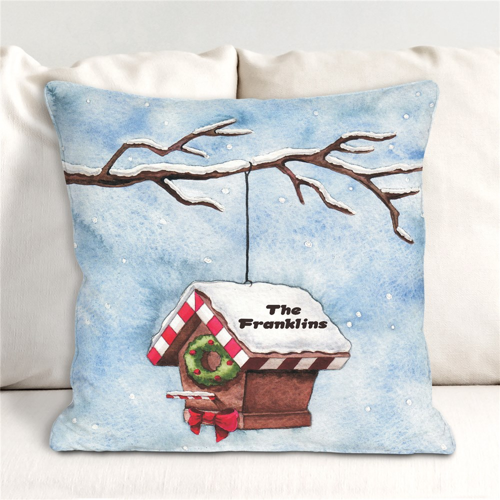Personalized Christmas Throw Pillow | Personalized Christmas Decor