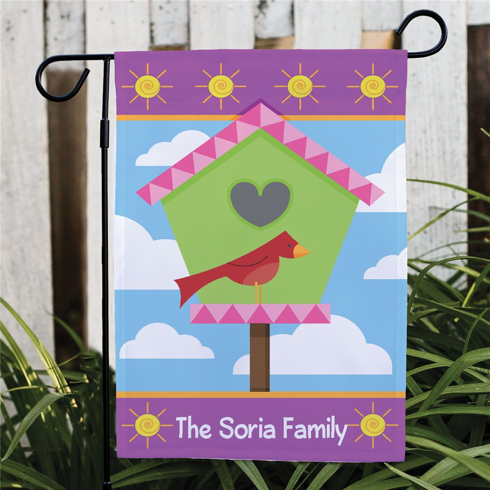 Personalized Garden Flags | Birdhouse Garden Flags