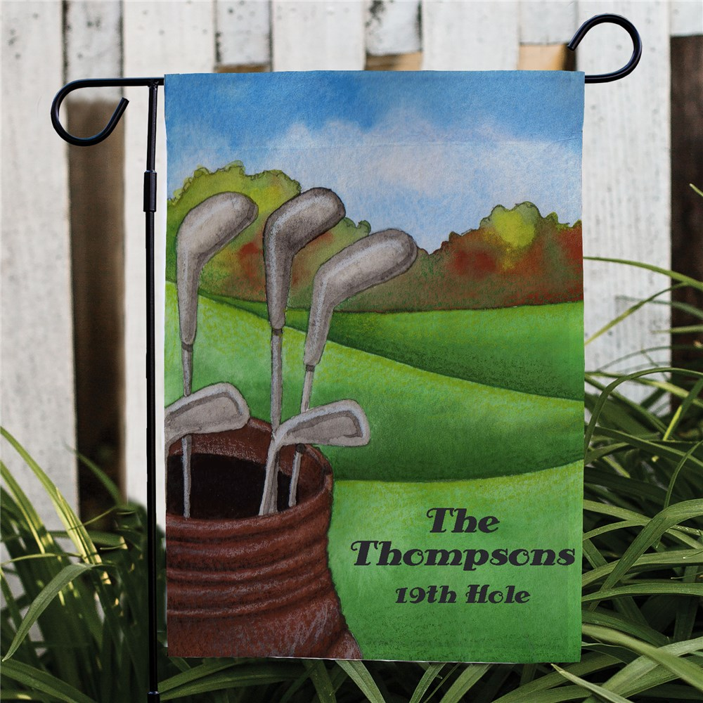 Personalized Golf Garden Flag | Golf Gifts for Dad