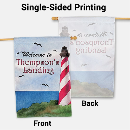 Personalized Lighthouse House Flag | Personalized House Flags