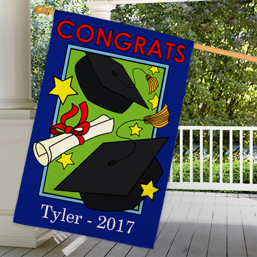 Personalized Graduation Flag For Him | Graduation Gifts