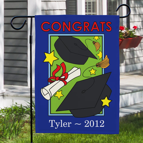 Personalized Graduation Garden Flag | Personalized Graduation Gifts