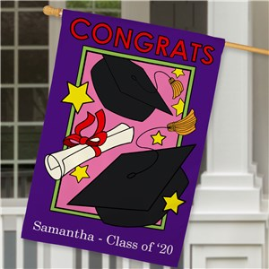 Personalized Graduation Flag For Her | Graduation Gifts