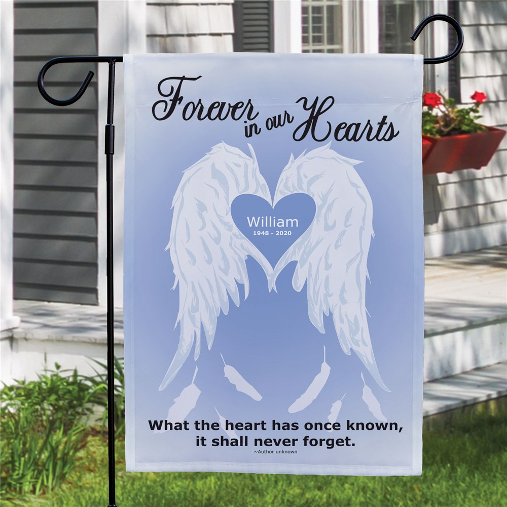 Personalized Forever In Our Hearts | Personalized Garden Flags