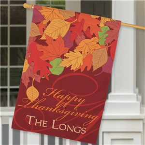Personalized House Flags | Thanksgiving House Flags