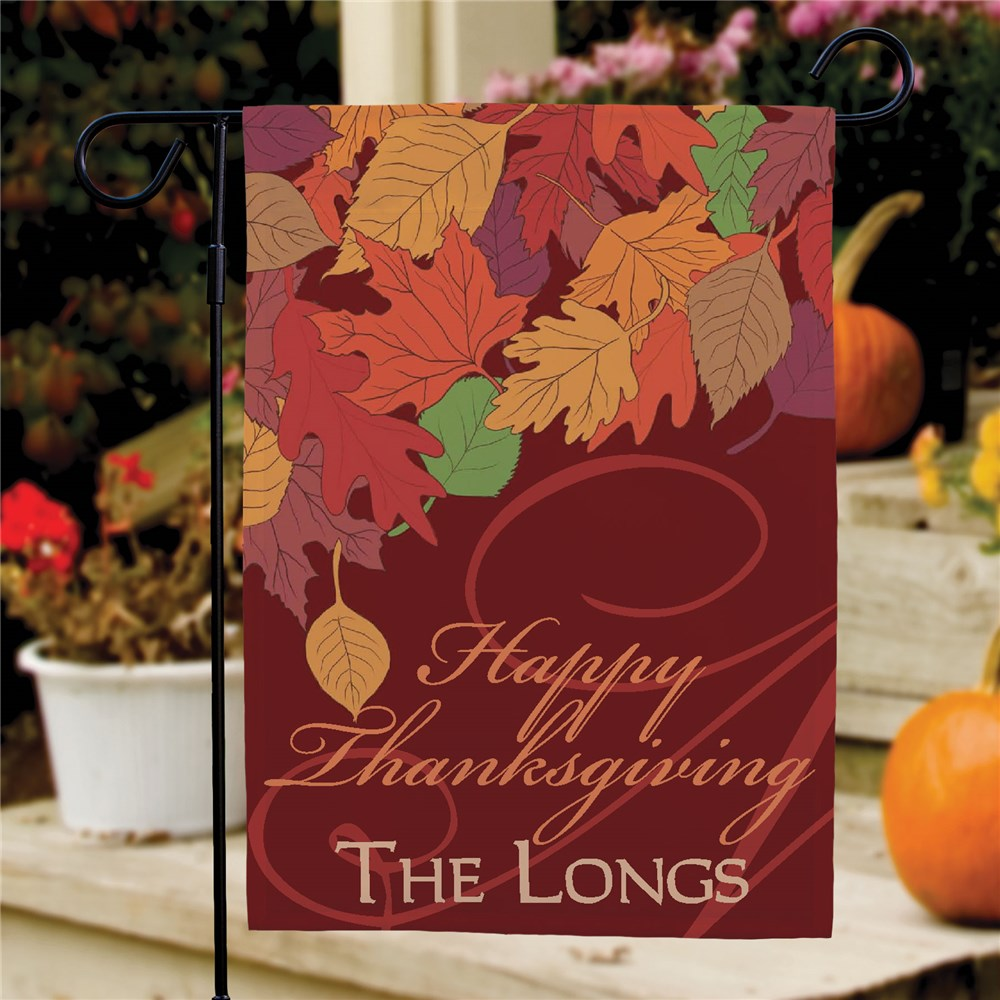 Personalized Fall Leaves Garden Flag | Personalized Garden Flags