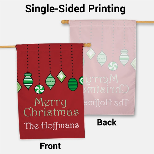 Personalized Holiday Ornaments House Flag | Personalized Christmas Flags