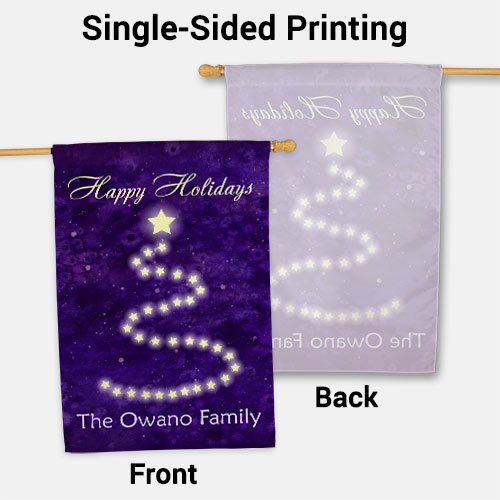 Personalized Happy Holidays Christmas House Flag 83060412L