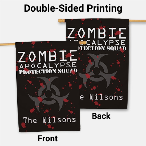 Personalized Zombie Apocalypse House Flag 83061472L