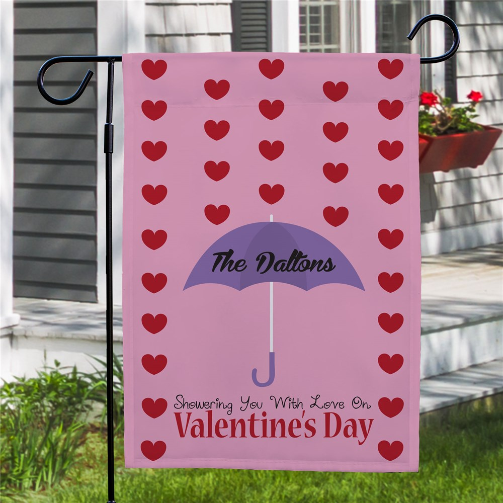 Personalized Showering With Love Garden Flag 83062152