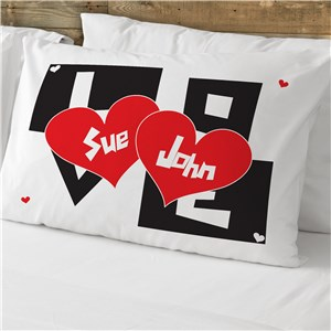 Love Pillowcase | Personalized Valentine Pillow Cases