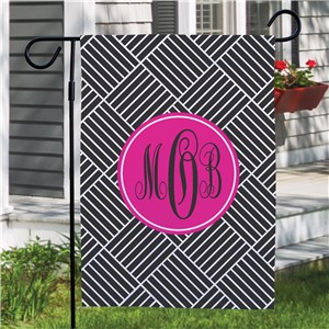 Monogram Madness Garden Flag | Personalized Garden Flags