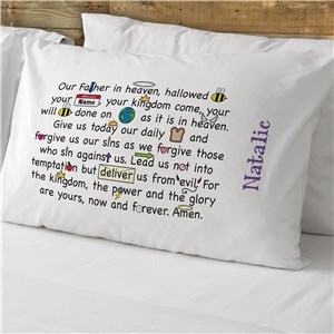 Our Father Prayer Personalized Pillowcase | Child Prayer Pillowcase with Custom Name