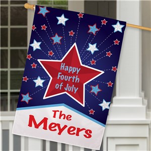 Personalized Happy 4th House Flag | Personalized House Flags