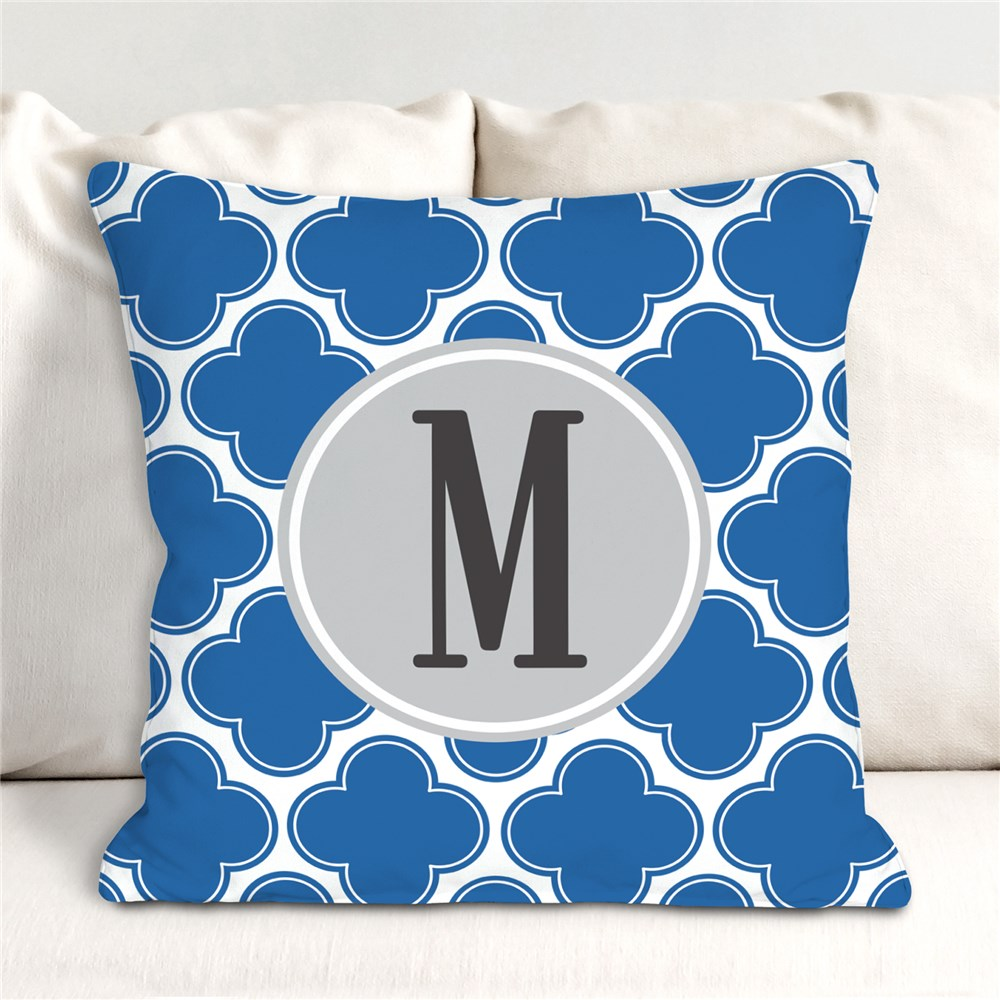 Monogrammed Moroccan Throw Pillow 83068233