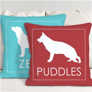 Personalized Dog Breed Throw Pillow 83071373