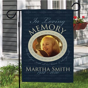 Personalized In Loving Memory Garden Flag | Sympathy Gift Ideas