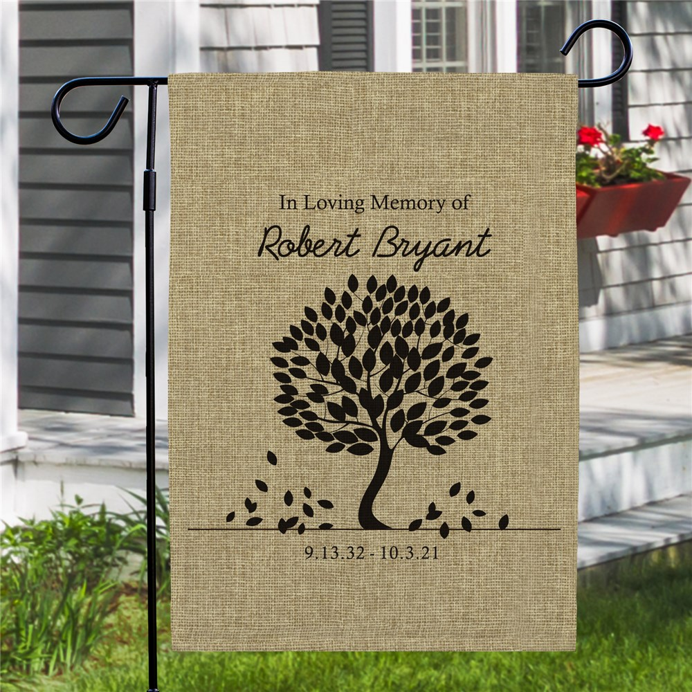 Burlap Garden Flag | Memorial Gifts