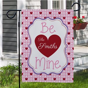 Personalized Be Mine Garden Flag | Romantic Home
