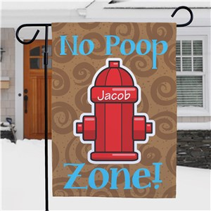 No Poop Zone Garden Flag | Personalized Garden Flags