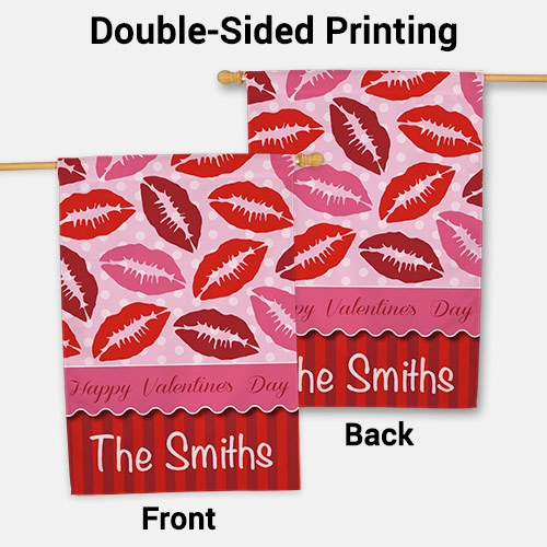 Personalized Kisses House Flag 83073182L