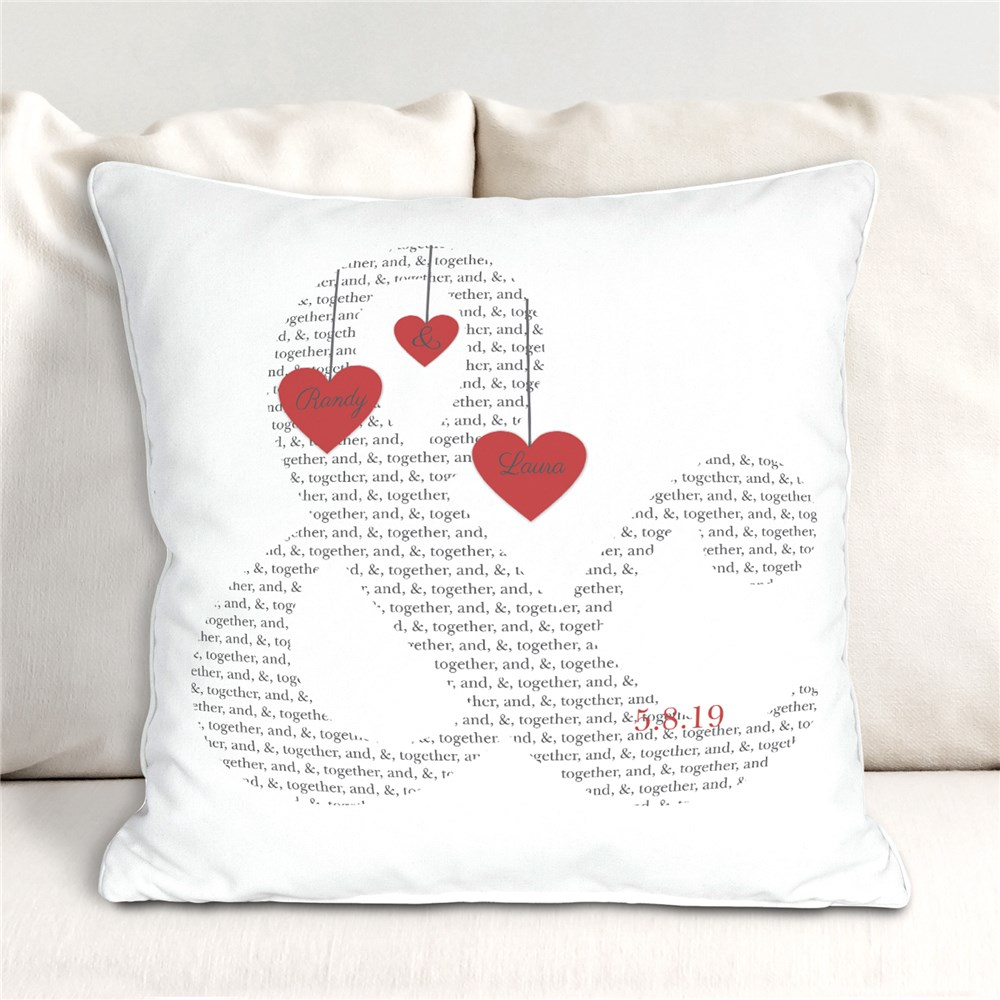 Personalized & Love Throw Pillow | Romantic Home