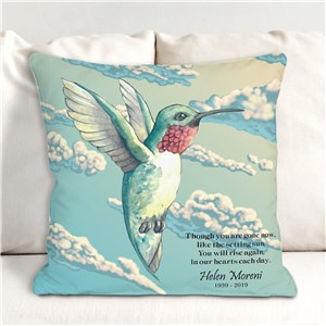 Personalized Hummingbird Memorial Throw Pillow | Memorial Gifts