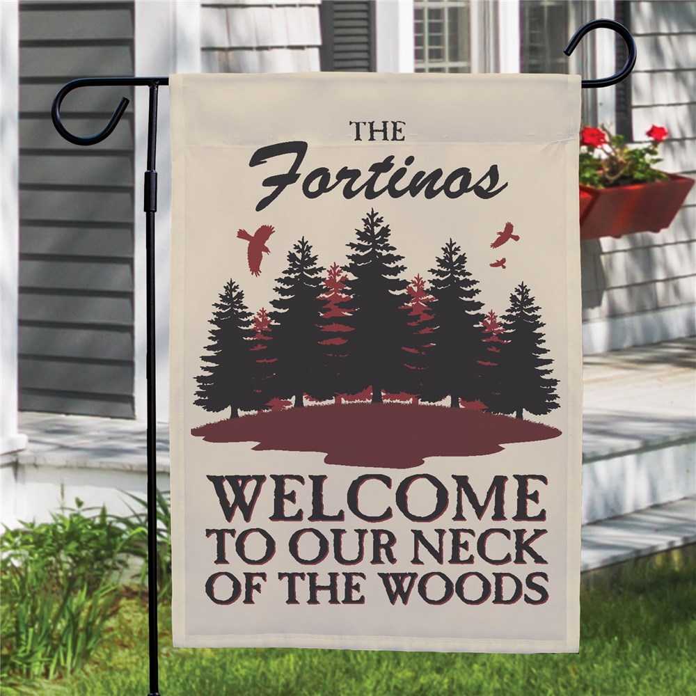 Personalized Neck Of The Woods Flag | Personalized Garden Flags