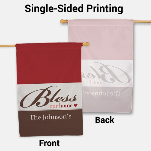 Personalized Bless Our Home House Flag | Personalized House Flags