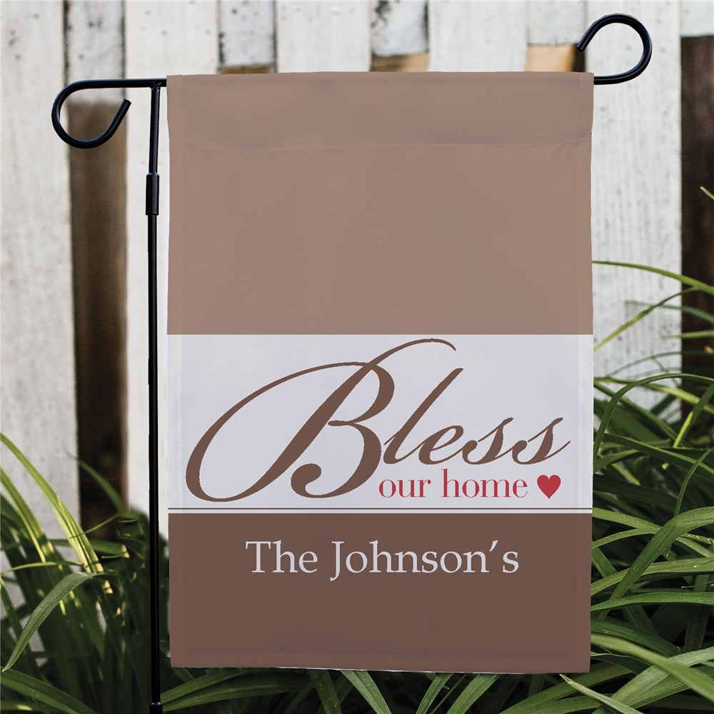 Personalized Bless Our Home Garden Flag | Personalized Garden Flags