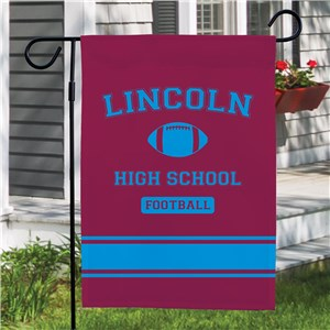 Personalized High School Sport Pride Garden Flag | Back To School Gifts