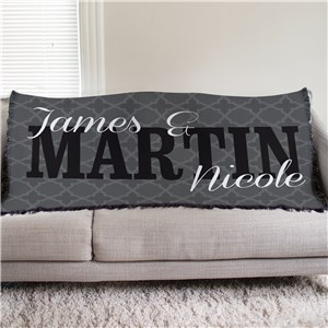 Personalized Couples Throw Blanket | Romantic Home