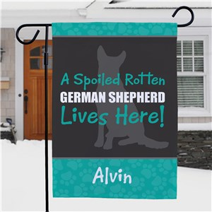 Personalized Dog Breed Garden Flag | Personalized Garden Flags