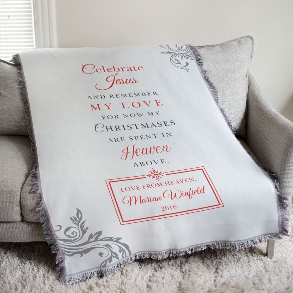Memorial Christmas Throw Blanket | Personalized Memorial Gifts