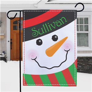 Snowman Welcome Garden Flag | Personalized Garden Flags
