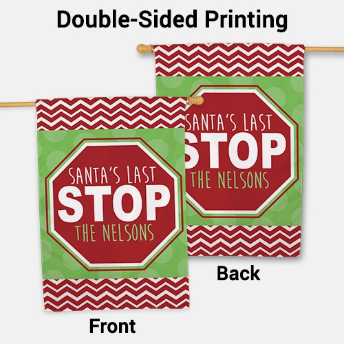 Santa House Flag | Personalized Christmas Flags