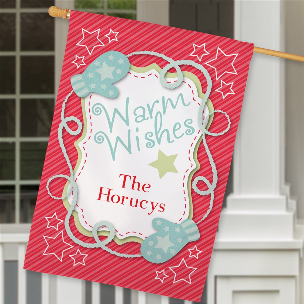 Personalized Merry Christmas House Flag | Personalized Christmas Flags