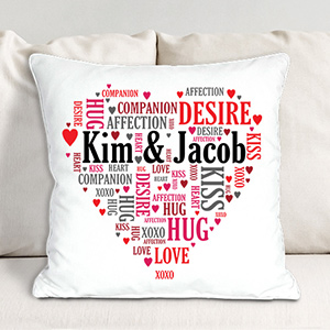 Couples Love Throw Pillow