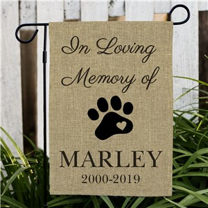 Pet Memorial Personalized Burlap Garden Flag | Memorial Flags