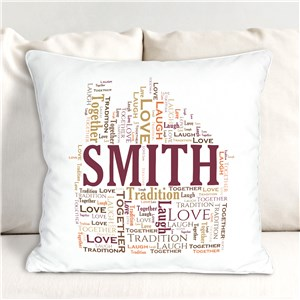 Welcome Home Word-Art Throw Pillow