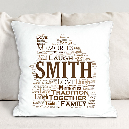 Welcome Home Throw Pillow | Personalized Word Art